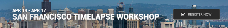 Join me Apr 14 - 17 for a time-lapse workshop in SF